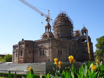 "Die Kathedrale, leider ""under construction"""