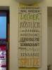 Feedback-Bogen für das Essen im Restaurant des Goetheinstitutes.