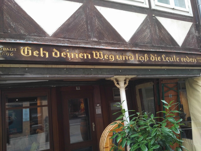 Zum Neujahrsempfang des Diözesanrates geht es nach Wolfenbüttel ... incl. dieser Lebensweisheit...