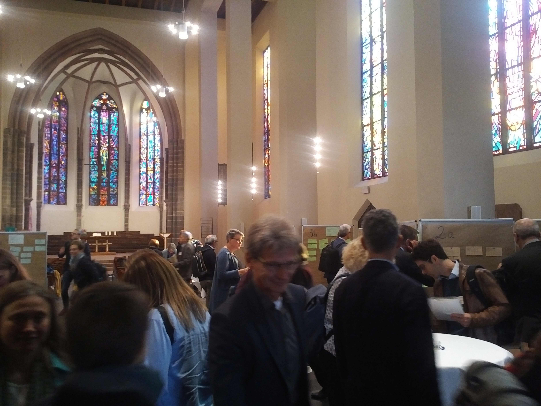 Winfried verbringt seinen Geburtstag zunächst ehrenamtlich beim Themenkonvent des Ökumenischen Kirchentages in Frankfurt.