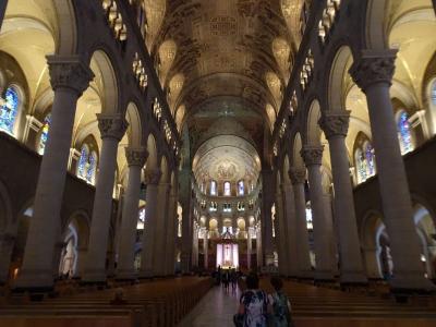 Basilika Sainte-Anne-de-Beaupré in der Nähe von Montreal, eine riesige Wallfahrtskirche