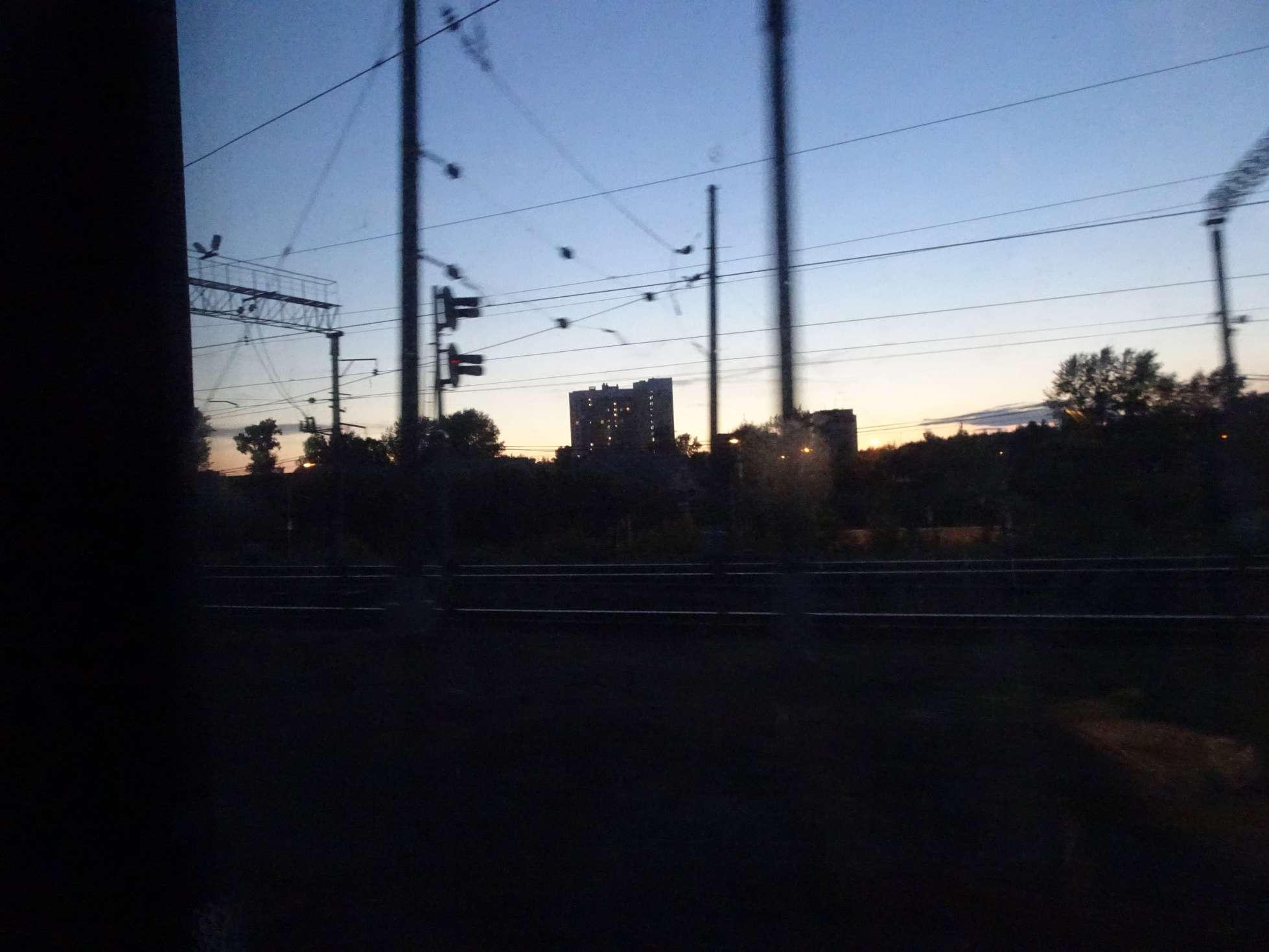 Und dann geht es wieder in den Zug nach Westen.