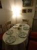 Unser Abendessen nehmen wir im Separée ein.