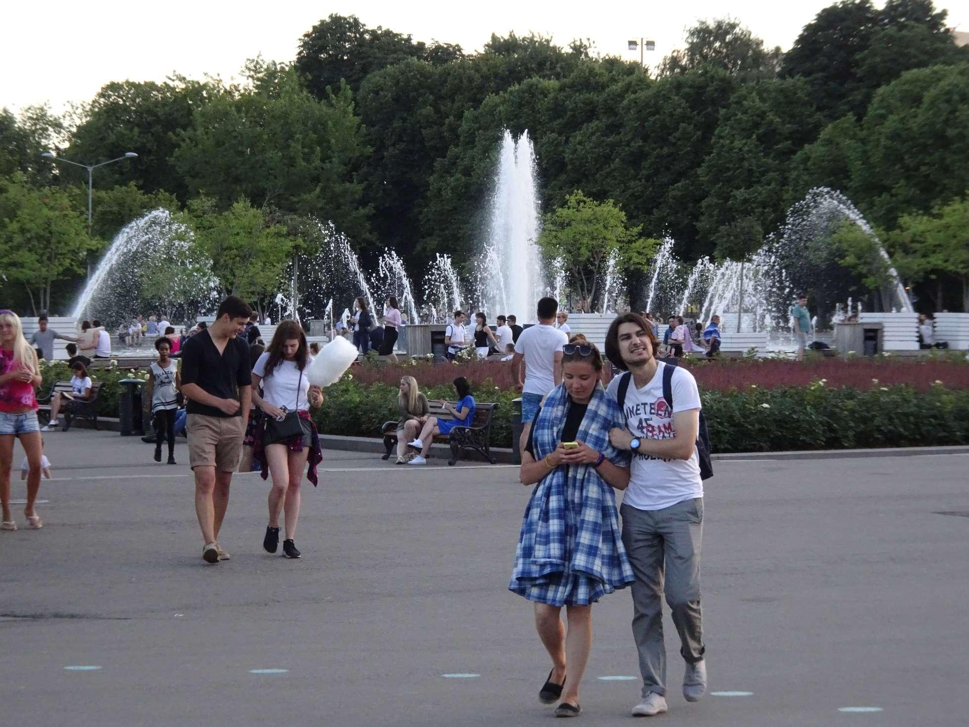"""Follow the Moskwa, down to Gorkij-Park"""