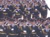 Am nächsten Tag am Roten Platz feiern Militärschul-Absolventen