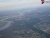 1.7.2016 Anflug auf Tomsk, gut zu sehen die Lage der Stadt am Tom