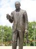 Louis Armstrong in dem Park, der ihm gewidmet ist.